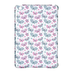 Cute Pastel Butterflies Apple Ipad Mini Hardshell Case (compatible With Smart Cover) by tarastyle