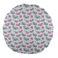 Cute Pastel Butterflies Large 18  Premium Round Cushions by tarastyle