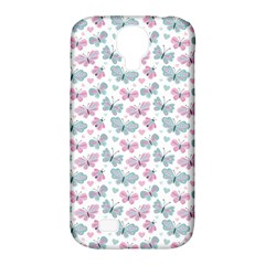 Cute Pastel Butterflies Samsung Galaxy S4 Classic Hardshell Case (pc+silicone)