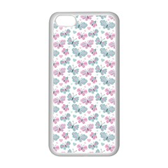 Cute Pastel Butterflies Apple Iphone 5c Seamless Case (white)