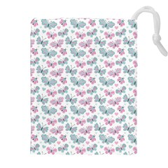 Cute Pastel Butterflies Drawstring Pouches (xxl)