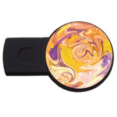 Yellow Marble Usb Flash Drive Round (2 Gb) by tarastyle