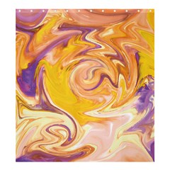 Yellow Marble Shower Curtain 66  X 72  (large)  by tarastyle