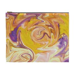 Yellow Marble Cosmetic Bag (xl)