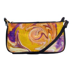 Yellow Marble Shoulder Clutch Bags by tarastyle