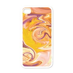 Yellow Marble Apple Iphone 4 Case (white) by tarastyle