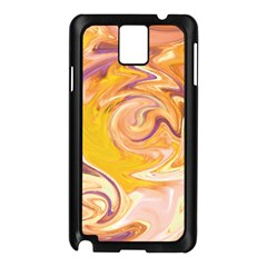 Yellow Marble Samsung Galaxy Note 3 N9005 Case (black)