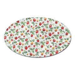 Strawberry Pattern Oval Magnet
