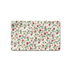 Strawberry Pattern Magnet (name Card) by Valentinaart