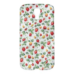 Strawberry Pattern Samsung Galaxy S4 I9500/i9505 Hardshell Case by Valentinaart