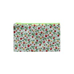 Strawberry Pattern Cosmetic Bag (xs) by Valentinaart
