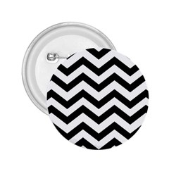 Black And White Chevron 2.25  Buttons