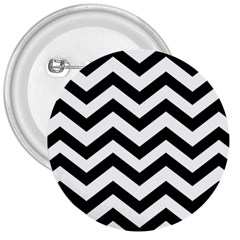 Black And White Chevron 3  Buttons