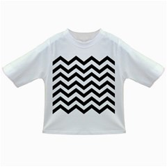 Black And White Chevron Infant/Toddler T-Shirts