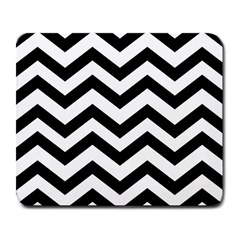 Black And White Chevron Large Mousepads