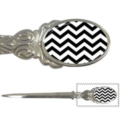 Black And White Chevron Letter Openers