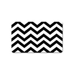 Black And White Chevron Magnet (Name Card)