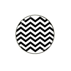 Black And White Chevron Hat Clip Ball Marker (4 pack)