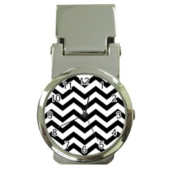 Black And White Chevron Money Clip Watches