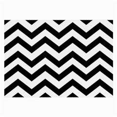 Black And White Chevron Large Glasses Cloth