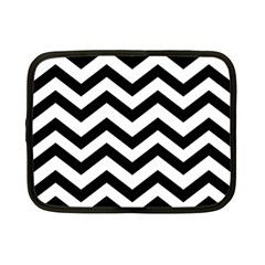 Black And White Chevron Netbook Case (Small)