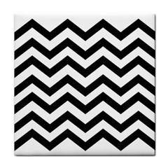 Black And White Chevron Face Towel