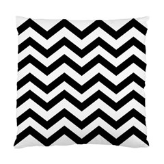Black And White Chevron Standard Cushion Case (One Side)