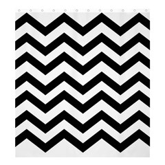 Black And White Chevron Shower Curtain 66  x 72  (Large)
