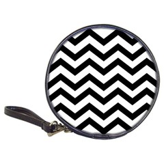 Black And White Chevron Classic 20-CD Wallets