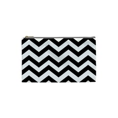 Black And White Chevron Cosmetic Bag (Small)