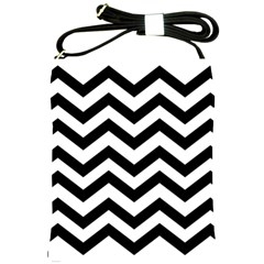 Black And White Chevron Shoulder Sling Bags