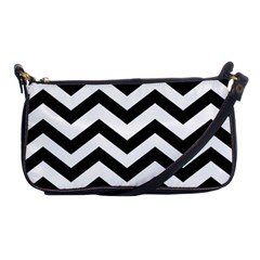 Black And White Chevron Shoulder Clutch Bags