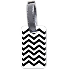 Black And White Chevron Luggage Tags (One Side)