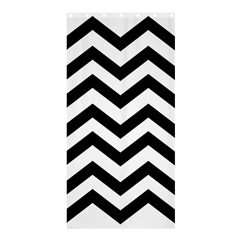 Black And White Chevron Shower Curtain 36  x 72  (Stall)