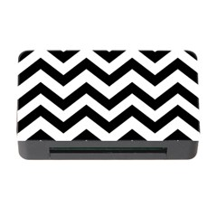 Black And White Chevron Memory Card Reader with CF