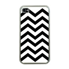 Black And White Chevron Apple iPhone 4 Case (Clear)