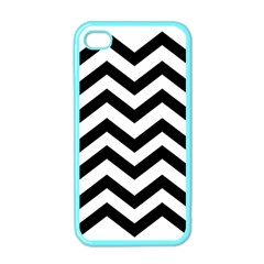 Black And White Chevron Apple iPhone 4 Case (Color)