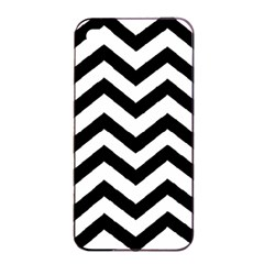 Black And White Chevron Apple iPhone 4/4s Seamless Case (Black)