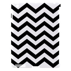 Black And White Chevron Apple iPad 3/4 Hardshell Case (Compatible with Smart Cover)