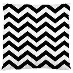 Black And White Chevron Large Cushion Case (Two Sides)