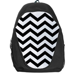 Black And White Chevron Backpack Bag