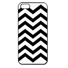 Black And White Chevron Apple iPhone 5 Seamless Case (Black)