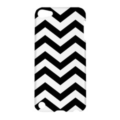 Black And White Chevron Apple iPod Touch 5 Hardshell Case