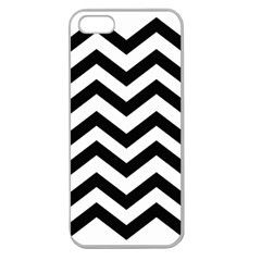 Black And White Chevron Apple Seamless iPhone 5 Case (Clear)