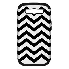 Black And White Chevron Samsung Galaxy S III Hardshell Case (PC+Silicone)