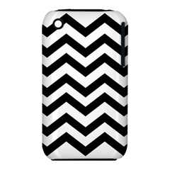 Black And White Chevron iPhone 3S/3GS