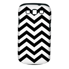 Black And White Chevron Samsung Galaxy S III Classic Hardshell Case (PC+Silicone)