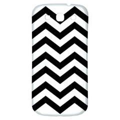 Black And White Chevron Samsung Galaxy S3 S III Classic Hardshell Back Case