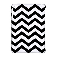Black And White Chevron Apple iPad Mini Hardshell Case (Compatible with Smart Cover)