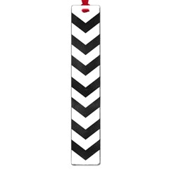 Black And White Chevron Large Book Marks